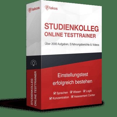 Studienkolleg Aufnahmetest Aufnahmeprüfung Online-Testtrainer