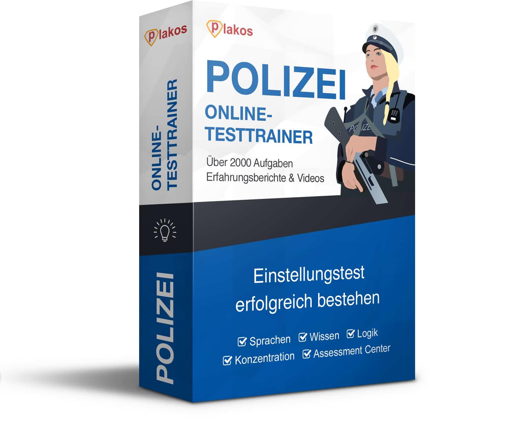 Polizei Einstellungstest Online-Testtrainer