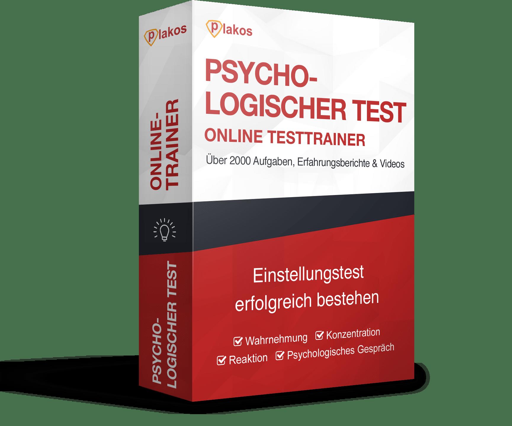 Psychologischer Test / Einstellungstest Online-Testtrainer