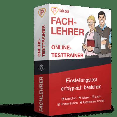 Fachlehrer Einstellungstest Online Testtrainer