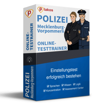 Polizei Mecklenburg-Vorpommern Einstellungstest Online-Testtrainer