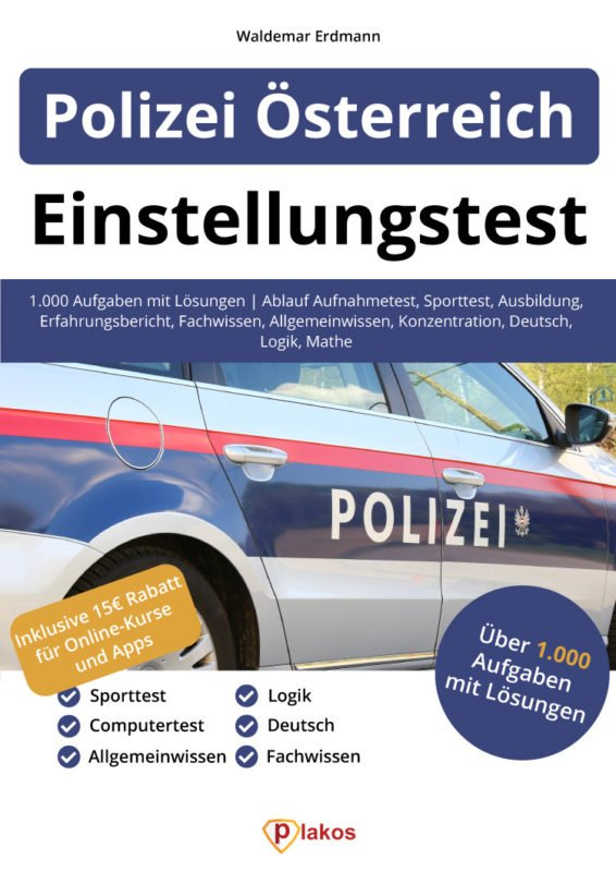 Polizei Österreich EInstellungstest Buch Cover